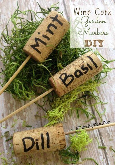 Garden Markers DIY, Garden ideas, DIY Craft, Garden party or Garden wedding decor ideas, easy and popular ideas